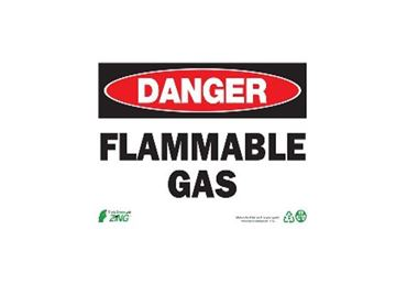 7X10 ALM. DANGER FLAMMABLE GAS