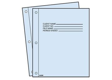PREPRINTED REPORT COVERS BLUE