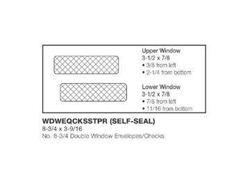 #8.75 DOUBLE WINDOW ENV/CHECK