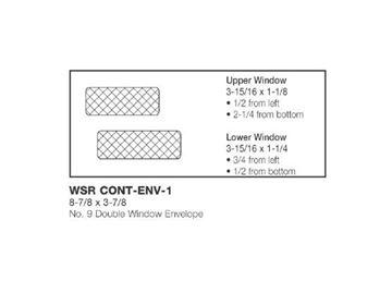 #9 DBL WINDOW ENV 8.75X3.875
