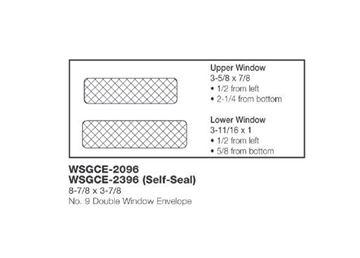 #9 DBL WINDOW ENV SS 8.75X3.87