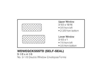 #9 DOUBLE WINDOW ENV FORMS