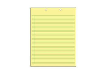 RECYCLED YELLOW PAD TOP PUNCH