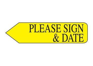 PLEASE SIGN DATE YELLOW BULK
