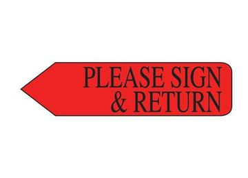 PLEASE SIGN RETURN RED