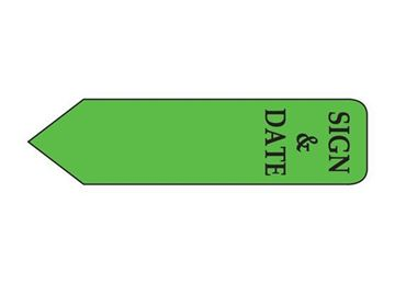 SIGN DATE GREEN