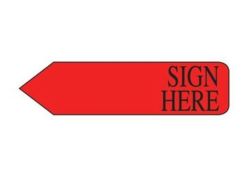 SIGN HERE RED BULK