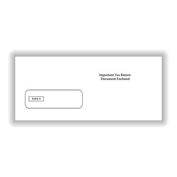 Single Window Envelope for 3Up 1099's
