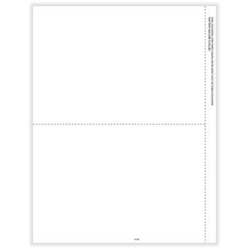 1099MISC Miscellaneous 2Up Blank w/ Copy B Backer Bulk PK