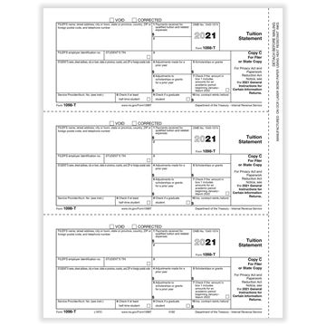 1098T Tuition Payments Statement Filer or State Copy C Bulk PK