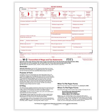 W3 Transmittal of Income