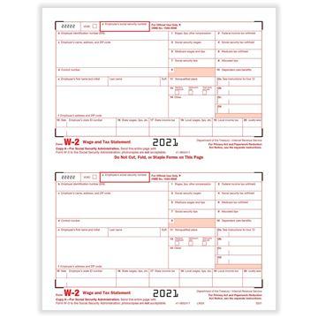 W2 Fed IRS Copy A Bulk PK