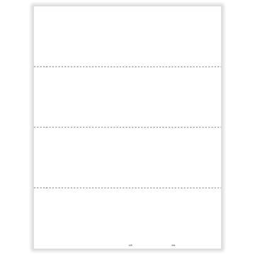 W2 Employee 4Up Horizontal Blank w/Backer
