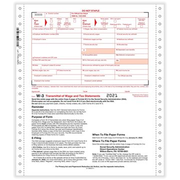 W3 Transmittal of Income 2part 1wide Carbonless