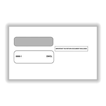 Double Window Envelope for official 2Up W2's